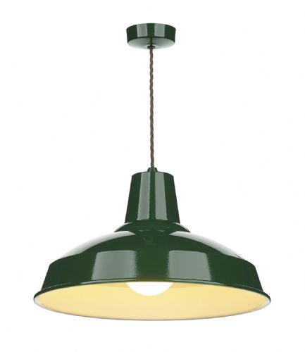 Reclamation Pendant Racing Green/White inner REC0124 (7-10 day Delivery) (Class 2 Double Insulated)